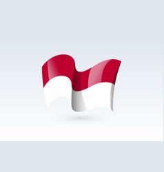 Waving flag icon national symbol fluttered vector