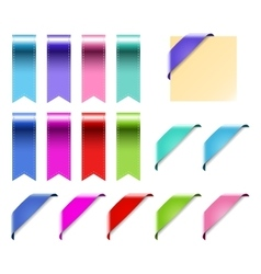 Web Ribbons Set With Gradient isolated on white vector