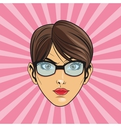woman cartoon pop art and retro design vector image
