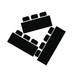 Building bricks black simple icon vector image vector image