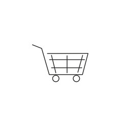 cart linear icon vector image vector image