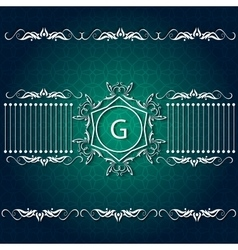 Greeting card corporate style logo ornament vector image vector image