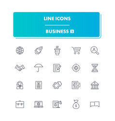 line icons set business 2 vector image