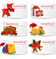 set of winter christmas backgrounds vector image vector image