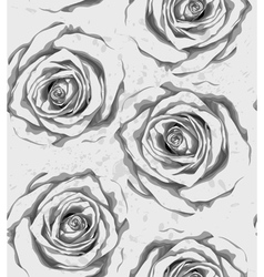 vertical seamless background with gray roses vector image vector image