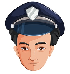 A police officer vector image
