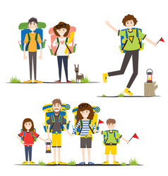 camping family vector image