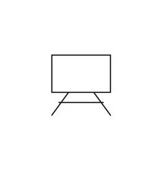 canvas linear icon vector image
