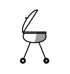 grill bbq food picnic shadow vector image
