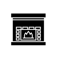 fireplace - hearth icon vector image