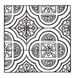 painting pattern is a 13th century design vintage vector image vector image