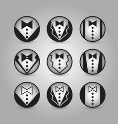 round icons jacket set vector image vector image