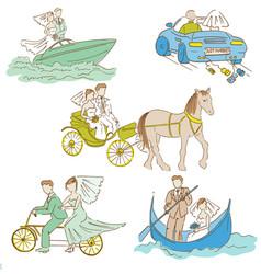 Wedding Doodle Set vector image vector image