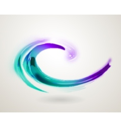 Abstract colorful swirl icon symbol vector image vector image