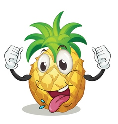 cartoon pineapple vector image vector image