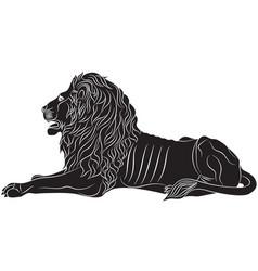 the couchant lion - the heraldic symbol vector image
