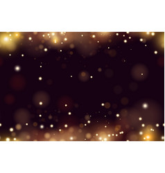Abstract defocused circular golden bokeh sparkle vector