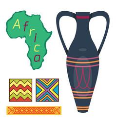 african vase culture ethnic art tool decorative vector image