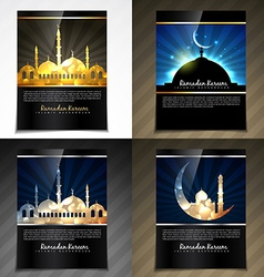 attractive brochure of eid festival vector image