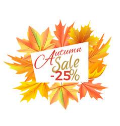 autumn sale -25 off icon vector image