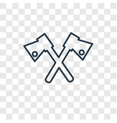 Axe concept linear icon isolated on transparent vector