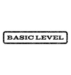basic level watermark stamp vector image vector image