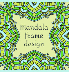 Beautiful unusual frame design vector
