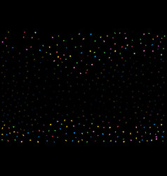 black and confetti party background vector image