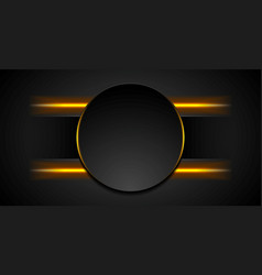 black tech background with glowing fiery light vector image