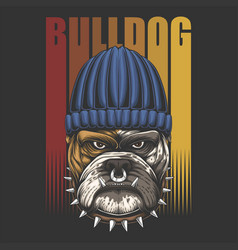 bulldog urban retro vector image