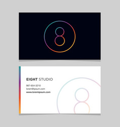 Business-card-number-8 vector