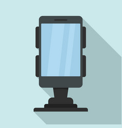 Business phone holder icon flat style vector