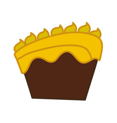 Cake dessert pastry vector