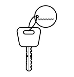 car key isolated icon vector image
