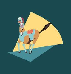 carnival horse circus show decoration retro vector image