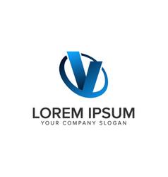 Cative modern letter v logo design concept vector