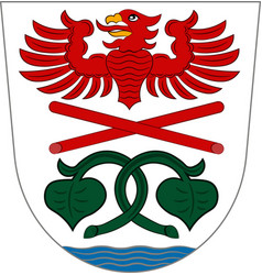 Coat of arms of miesbach in upper bavaria germany vector