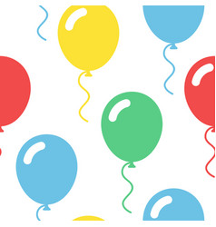 colorful balloons seamless simple pattern on white vector image