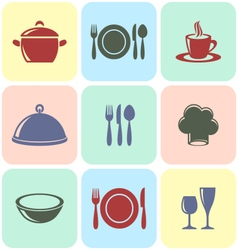 Cooking and restaurant menu icons vector