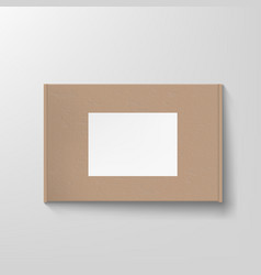 craft textured cardboard box container packaging vector image