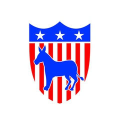 Democrat Donkey Mascot vector image