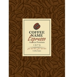Design labels for coffee vector