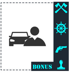 driver icon flat vector image