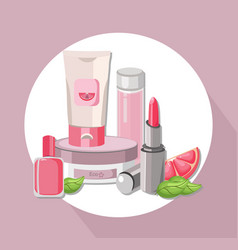 Eco cosmetics set package hydration cream vector