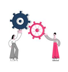 Effective teamwork concept vector