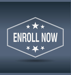 Enroll now vector