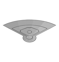 Field for baseball icon black monochrome style vector