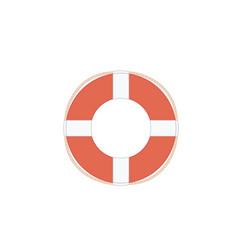 Flat outline lifebuoy life buoy icon vector