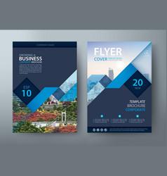 Flyer design leaflet cover template vector