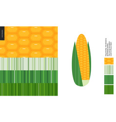 Food patterns vegetable corn vector